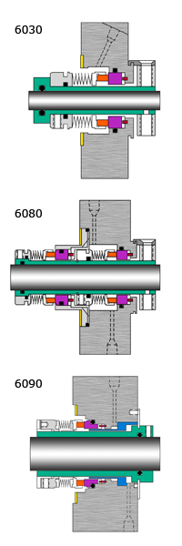 6030, 6080 & 6090  Mechanical Seals